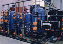 water demineralisation by resine exchange